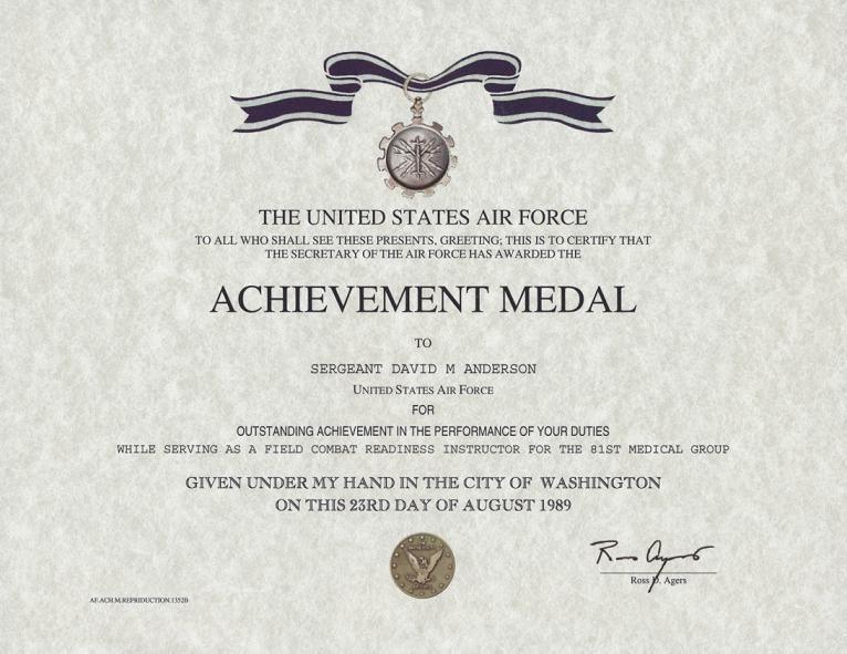 Navy achievement medal certificate newhairstylesformen2014 com