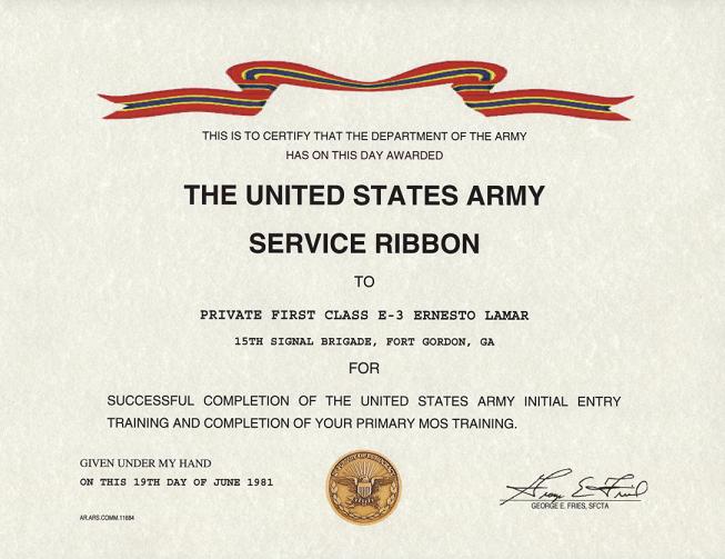 military appreciation certificate templates – Army Certificate of Appreciation Template
